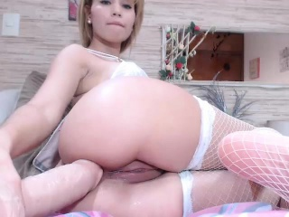 Hot Blonde Babe Toys Pussy...
